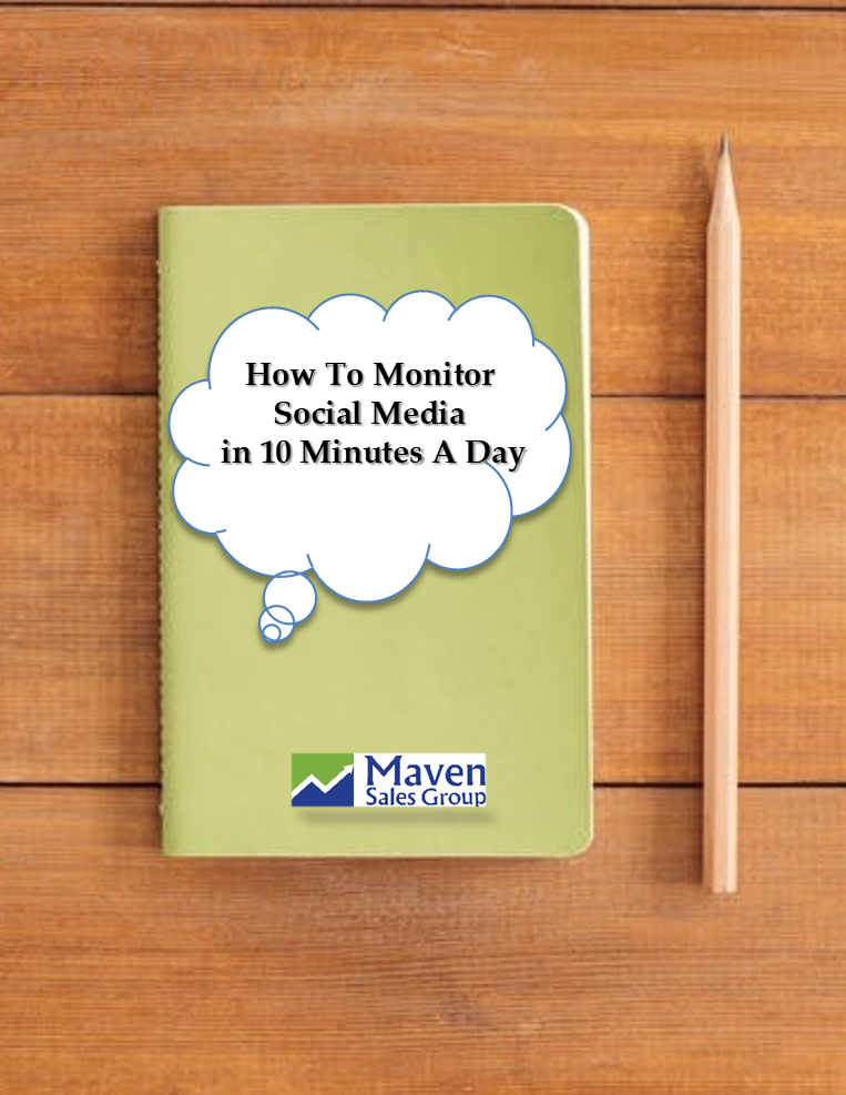 Maven Sales Group ebook monitor social media